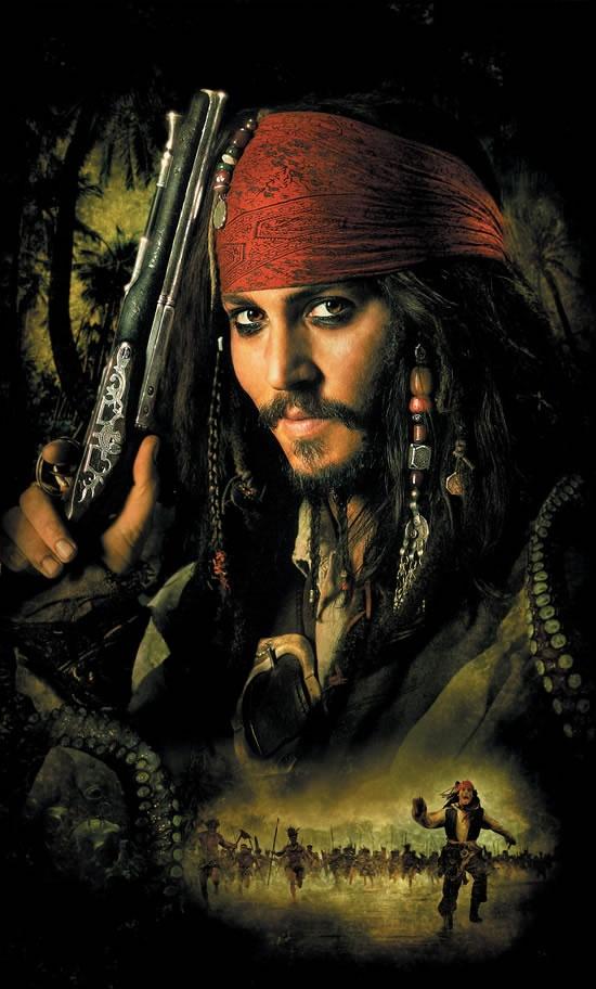 加勒比海盗2海报
