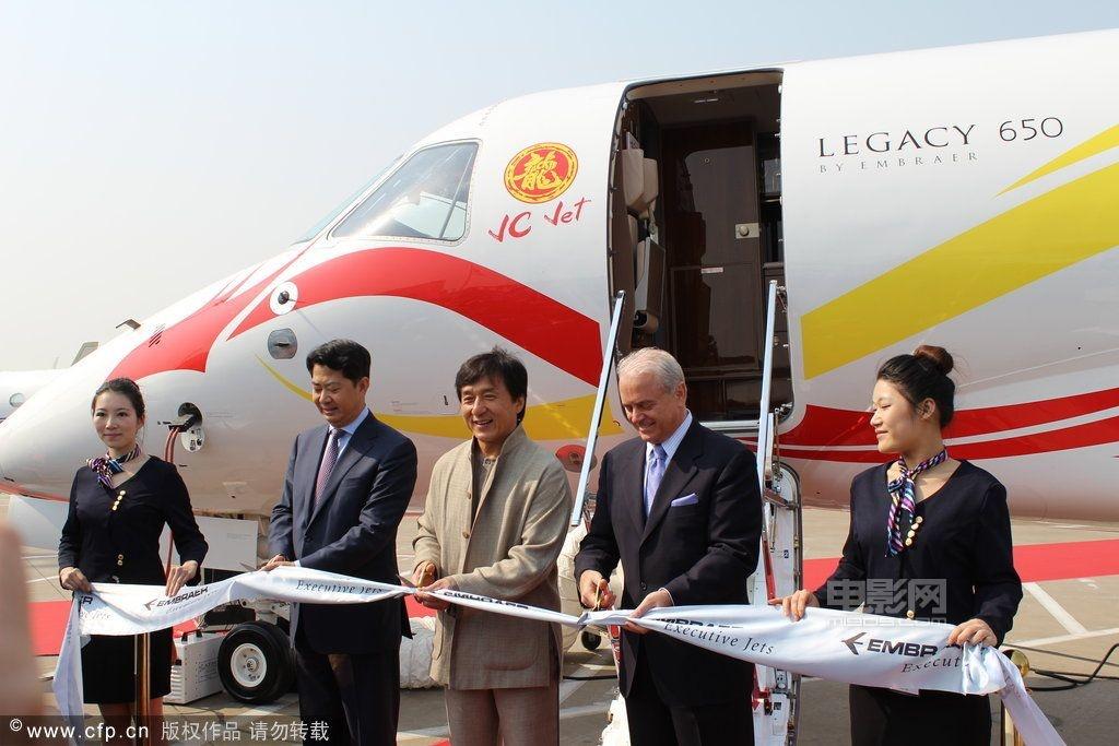 备受关注的成龙私人飞机均已抵达投入上海公务机展,该飞