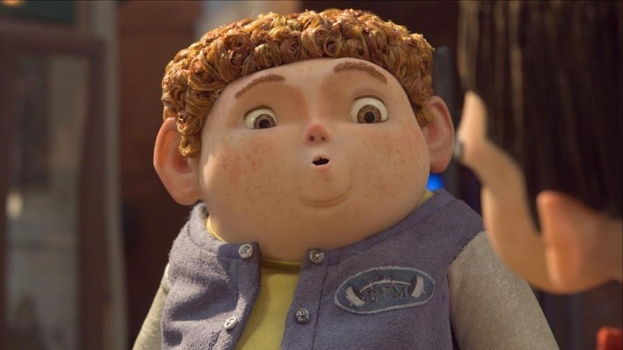 小胖子男孩可爱