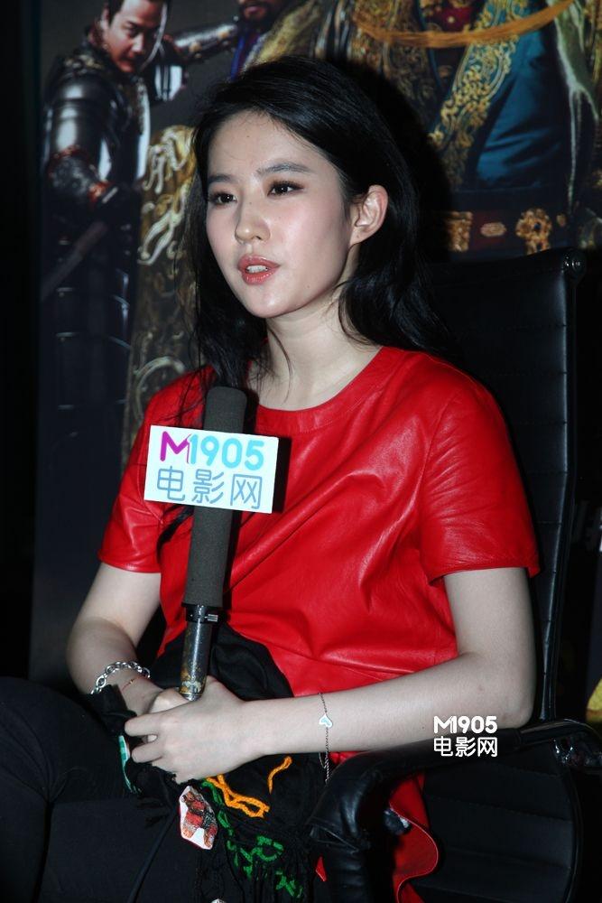 专访刘亦菲:我是美女不是欲女 出演激情戏被咬图片