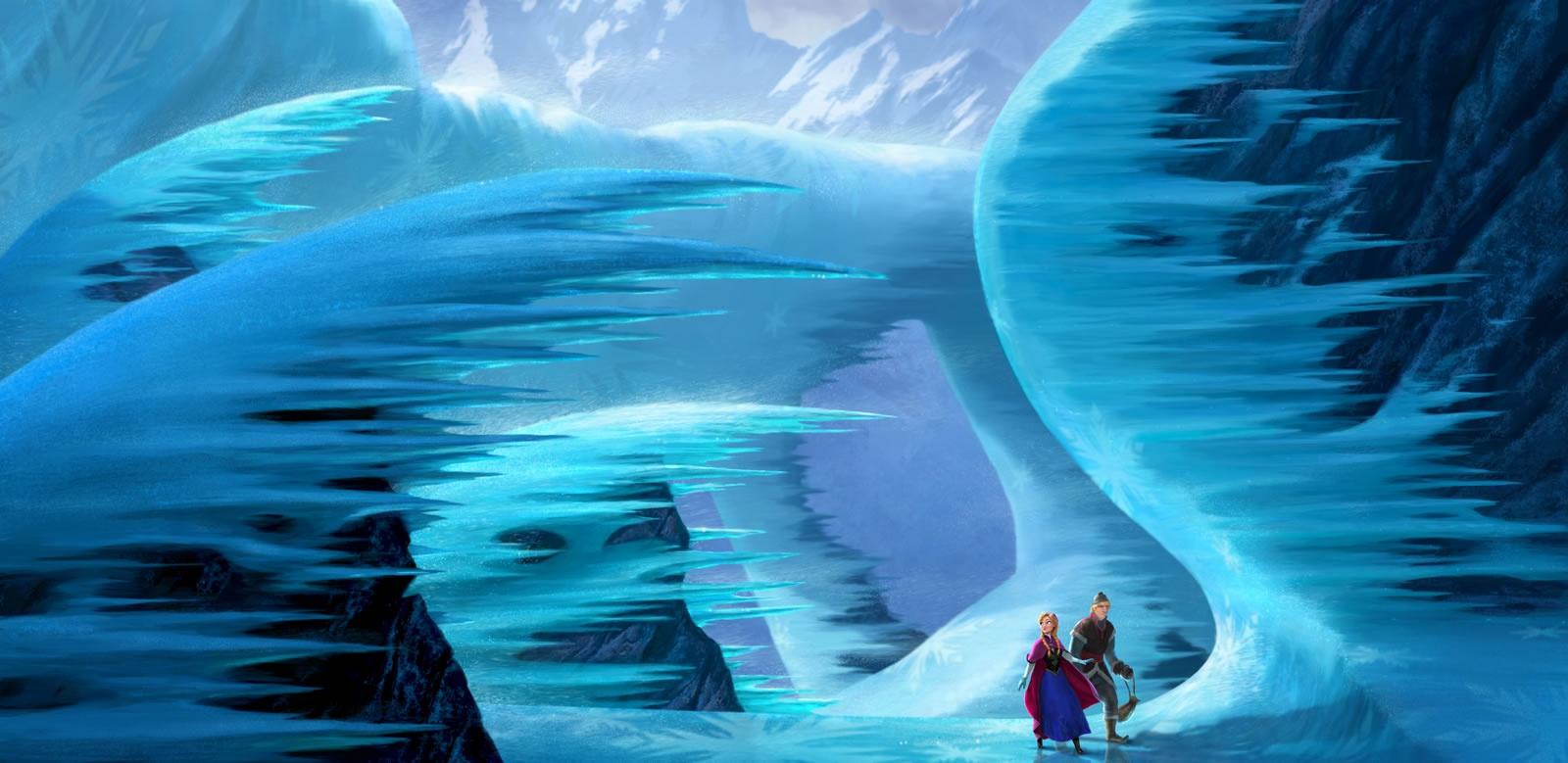 冰雪动物儿童画