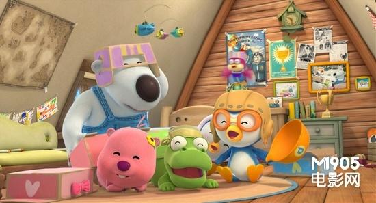 波鲁鲁与朋友们快乐地在一起       3d动画大片《波鲁鲁冰雪大冒险》