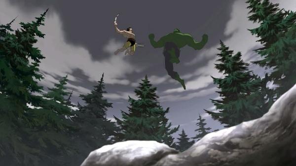 绿巨人大战金刚狼与雷神托尔