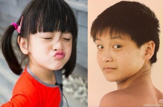 田亮通过微博晒出一张自己小时候的照片