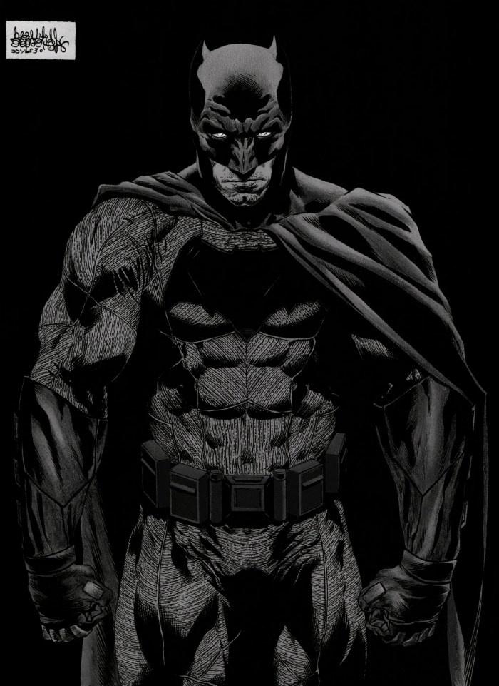 《蝙蝠侠大战超人》曝手绘插画 暗黑风格显霸气