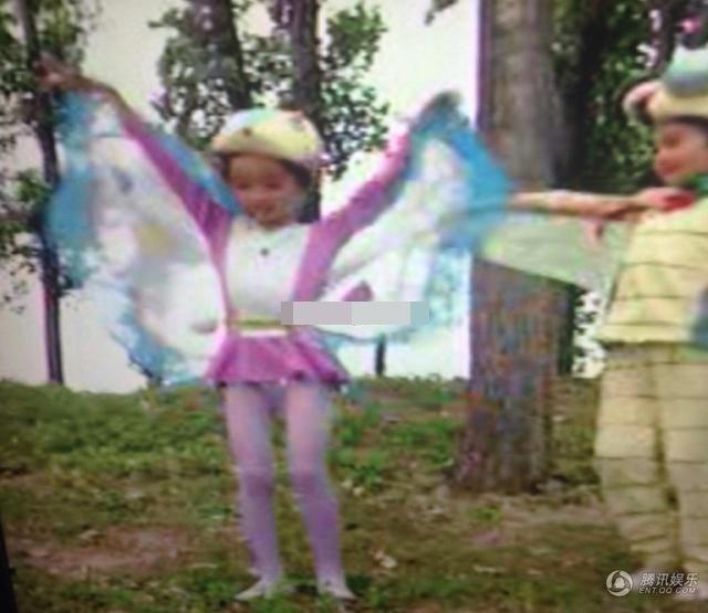 杨幂分享童年扮小蝴蝶激萌照 搞笑称求视频种子