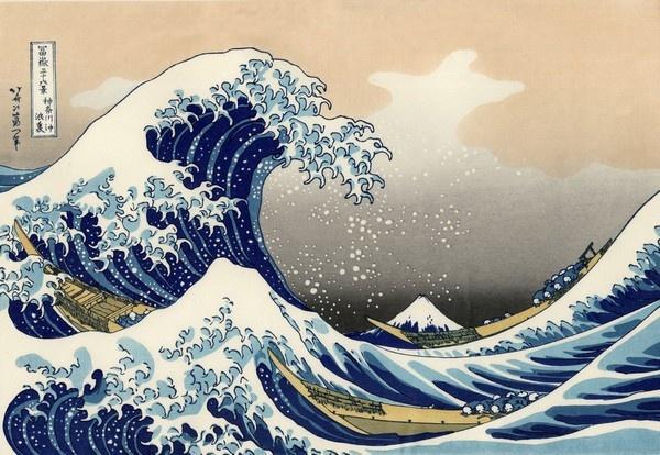 葛饰北斋浮世绘名画《神奈川冲浪里》