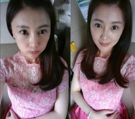 6月10日,甘薇更新微博,晒出两张自拍照.