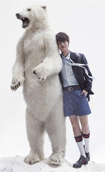 冰雪世界与北极熊互动