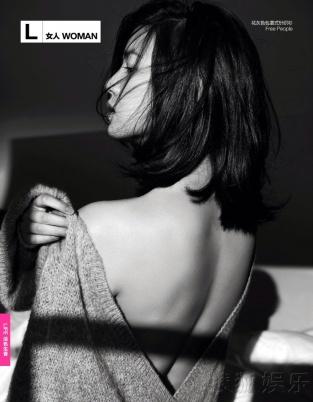 陈妍希拍女星性感写真脚丫大开美背香肩秀色系黑白性感尺度图片