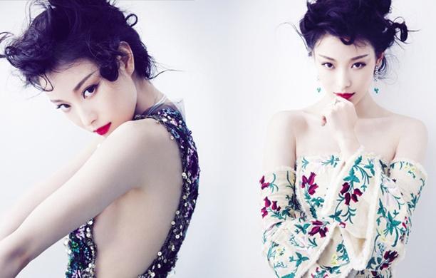 倪妮性感造型登雜志封面 紅唇雪肌顯美艷風情