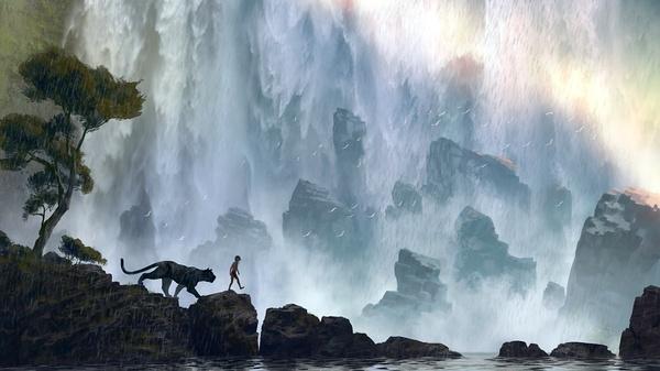 《奇幻森林》设定图 凤凰娱乐讯(编译/柯基塔) 即将于本周末上映的影片《奇幻森林》,是迪士尼根据自家经典动画片改编的最新真人电影。不过,别以为它只是1967年那部动画片的酷炫CG升级版——当年那版里,原著作者吉卜林笔下的那些凶猛野兽都被改编成了讨人喜欢的、能直接做玩具贩售的可爱小动物。一方面,如果你看过预告片的话,你会知道这个新版本里拥有一些视觉上令人惊叹的动物,以一众大牌明星的声音开口讲话;另一方面,该片的导演可是乔恩-费儒,那个以《钢铁侠》开启了漫威电影宇宙的乔恩-费儒。 费