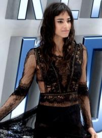 《星际迷航3》首映 派恩卖腐刀锋女蕾丝裙性感
