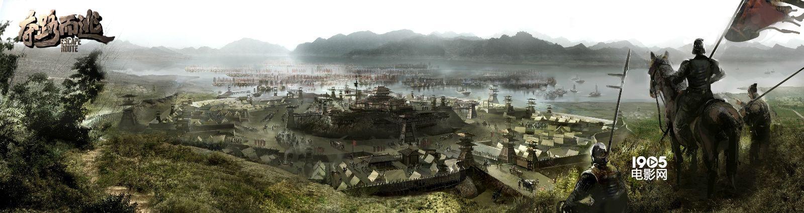 三川皇宫,古风战场等经典场景手绘图一一揭开神秘面纱,现出庐山真面目