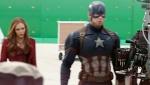 《美国队长3》拍摄花絮 猩红女巫对绿幕放大招