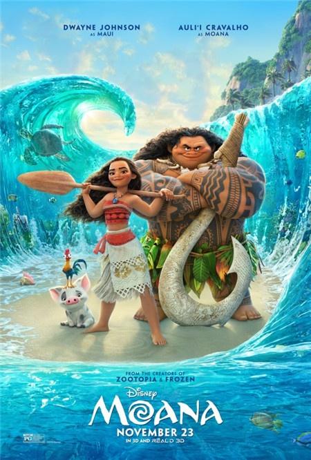 迪士尼《海洋奇缘》发布新海报 复活节北美上映__电影