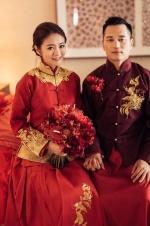 安以轩着中式礼服出嫁 高颜值伴娘伴郎团太惊艳