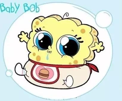婴儿时期的海绵宝宝有没有萌到你
