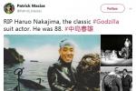 初代哥斯拉扮演者中岛春雄逝世 演过12部怪兽电影