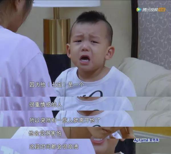 儿子上节目又哭又闹 何洁一句话让人心疼(图)