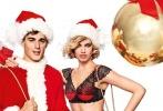 哈利·克劳森拍圣诞主题写真秀逆天身材,与圣诞帅哥哥亲密相拥。