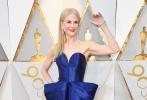 北京时间3月5日,第90届奥斯卡金像奖颁奖典礼在好莱坞杜比剧院举行,红毯上星光熠熠,巨星云集。图为:妮可·基德曼。