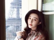 范冰冰晒巴黎美照 长发飘飘身姿婀娜似妙龄少女