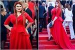 戛纳假摔输了?俄罗斯女星疑策划裙子被踩掉戏码