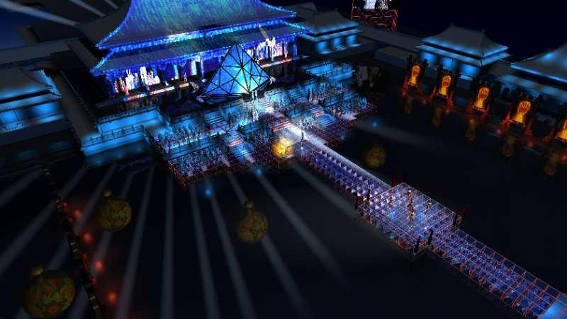 成龙国际电影周场地搭建 时空隧道舞台连接古今