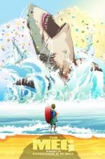 《巨齿鲨》曝IMAX海报 卡通画风暗藏深海危机!