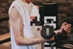 王源举铁大秀肌肉力量感满满 勤奋举铁十分努力