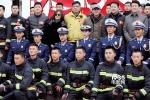 《烈火英雄》首次媒体探班 黄晓明杜江首演消防员