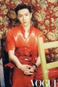 张艺兴登时尚杂志特别刊 与超模演绎圣诞气氛大片