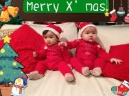 熊黛林双胞胎少女儿难得同框合照 一个随妈一个随爸