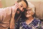 """""""海王""""杰森晒与奶奶温馨合照 大笑似孩子一样"""