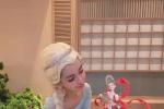 Angelababy慶生照cos冰雪少女王 精致似芭比娃娃!