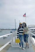 蘇芒曬照與章子怡美國游玩 醒醒變小攝影師幫拍照