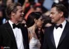 《好莱坞往事》首映红毯 皮特和小李子深情对视