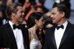 《好萊塢往事》首映紅毯 皮特和小李子深情對視