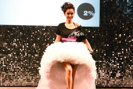近日杨颖(angelababy) 出现在上海为某品牌走秀,风格甜美可爱,清新