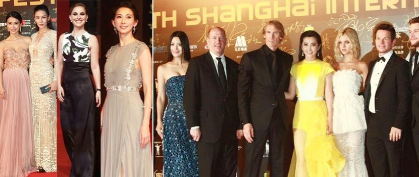 《变4》剧组惊艳现身上影节红毯 众女星拼性感