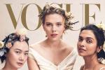 《Vogue》14位巨星登封面 杨颖与寡姐裴斗娜同框