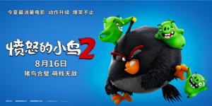 """《愤怒的小鸟2》曝新海报 8.16猪鸟联""""萌""""上线"""