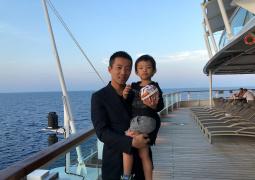 汪小菲罕见晒儿子正面照 三岁的汪希箖长这么高!