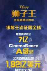 《狮子王》北美创影史七月最高 全球劲收5亿美元