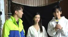陈都灵、张哲瀚拍摄《星辰大海》MV采访花絮