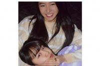 木村光希分享与姐姐心美合影 穿姐妹装互动有爱