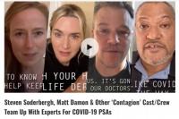 《传染病》剧组录制抗疫宣传短片 马特·达蒙出镜