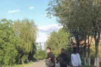 鄭愷夫婦牽手逛公園被偶遇 苗苗腰身粗壯疑有孕