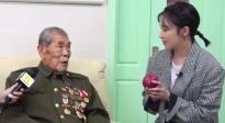 """阚清子看望抗美援朝老兵 张计发老人讲述""""一个苹果的故事"""""""